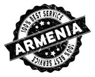 Armenia Best usługa znaczek z Grunge teksturą ilustracja wektor