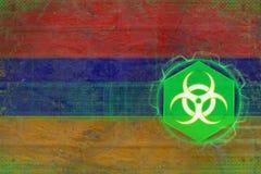 Armenia biohazard zagrożenie Wirusowy niebezpieczeństwa pojęcie Fotografia Stock