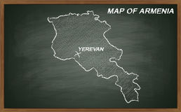 Armenia on blackboard Stock Photography