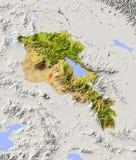 Armenia, correspondencia de relevación sombreada Foto de archivo libre de regalías