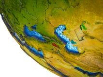 Armenia on 3D Earth vector illustration