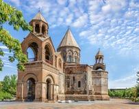 armenia domkyrkaechmiadzin fåtöljer Arkivbilder
