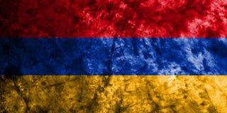 Armenia dymu flaga grunge flaga na starym brudzi ścianę Obraz Stock
