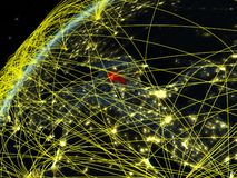 Armenia on Earth with network stock illustration