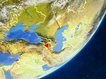 Armenia on Earth from space vector illustration