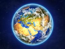 Armenia on Earth from space royalty free illustration