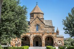 Church of Saint Gayane in Etchmiadzin. Armenia, Echmiadzin. The church of Saint Gayane was built in the sixth century.It is included in the UNESCO World Royalty Free Stock Photos