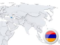 Armenia en el mapa de Asia libre illustration