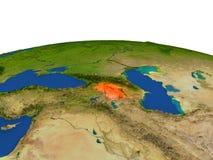 Armenia en rojo de la órbita stock de ilustración