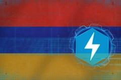 Armenia energetyka Elektryczny energetyki pojęcie Obraz Stock