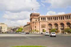 ARMENIA, EREVAN 17 2016 Sierpień: Yerevan główny plac Zdjęcie Stock