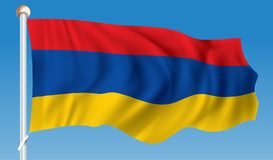armenia flagę Zdjęcie Stock