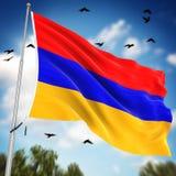 armenia flagę Zdjęcia Stock