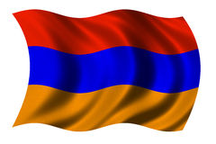 armenia flagę Fotografia Royalty Free