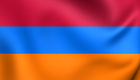 armenia flagę Obraz Stock