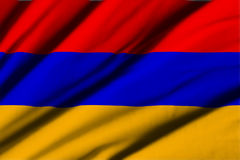 armenia flagę Obrazy Royalty Free