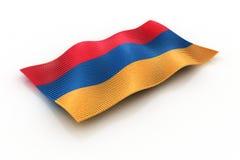 Armenia. Flag of Armenia composed of cubes Stock Image