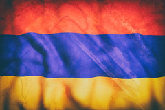 Armenia flag. 3d rendering of an old Armenia flag Royalty Free Stock Photography