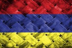 Armenia flag, flag on the wood.  Royalty Free Stock Photography