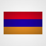 Armenia flag on a gray background. Vector illustration Stock Images