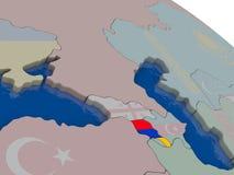 Armenia with flag Stock Photography
