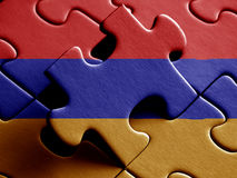 Armenia  FLAG PAINTED ON PUZZLE nice Stock Photography