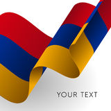 Armenia flag. Patriotic design. Vector illustration. Royalty Free Stock Images