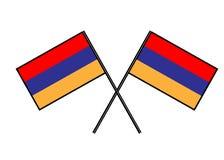 armenia flagę Przestylizowanie krajowy sztandar Prosta wektorowa ilustracja z dwa flaga Zdjęcia Royalty Free