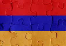 Armenia flag puzzle Stock Photo