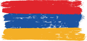 Armenia Flag Vector Hand Painted with Rounded Brush Royalty Free Stock Images