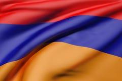 Armenia flag waving Royalty Free Stock Images