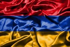 Armenia flag waving in the wind. Armenia flag waving in the wind royalty free illustration