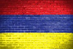 Armenia flaga, ścienny tekstury tło Zdjęcie Stock