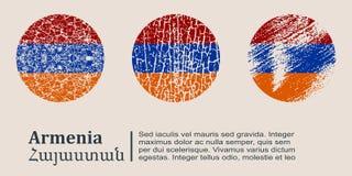 Armenia flaga projekta pojęcie Zdjęcie Stock