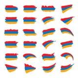 Armenia flaga, wektorowa ilustracja Obrazy Stock