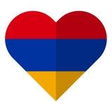 Armenia flat heart flag Stock Images