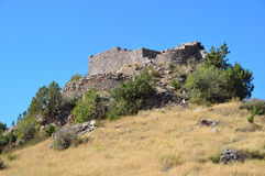 Armenia, fortress Smbataberd high in the mountains, 5th century, rebuilt in the 14th century Royalty Free Stock Images