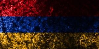 Armenia grunge flaga na starym brudzi ścianę ilustracja wektor