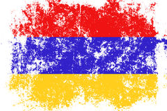 Armenia grunge, old, scratched style flag Stock Photos