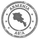 Armenia grunge pieczątki tekst i mapa Zdjęcie Royalty Free