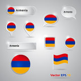 Armenia icon set of flags Royalty Free Stock Photography