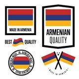 Armenia ilości etykietka ustawiająca dla towarów ilustracja wektor