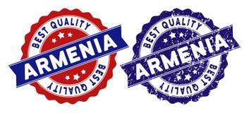 Armenia ilości Najlepszy znaczek z Grunge stylem ilustracja wektor