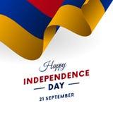 Armenia Independence Day. 21 September. Waving flag. Vector illustration. Armenia Independence Day. 21 September. Waving flag. Vector Stock Photo