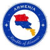 Armenia kółkowa patriotyczna odznaka Obrazy Royalty Free