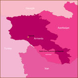 Armenia map. Stock Images