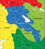 Armenia map Stock Photo