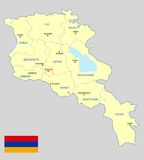 Armenia map - cdr format Stock Image