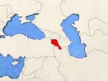 Armenia on map Royalty Free Stock Photos