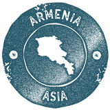 Armenia map vintage stamp. Stock Photography